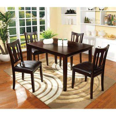 Northvale I 5PC. Transitional Style Dining Table Set in Espresso Finish