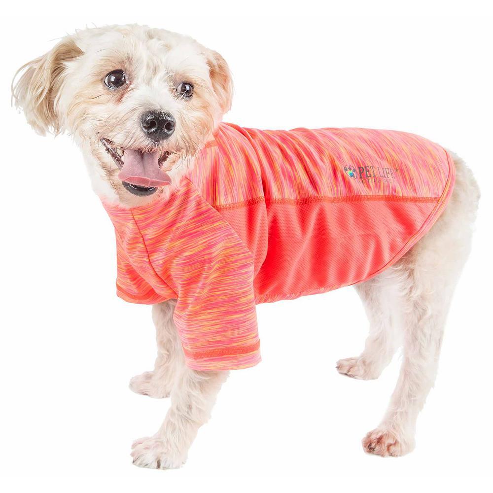 Large Orange Active Warf Speed Ultra-Stretch Sporty Performance Dog T-Shirt