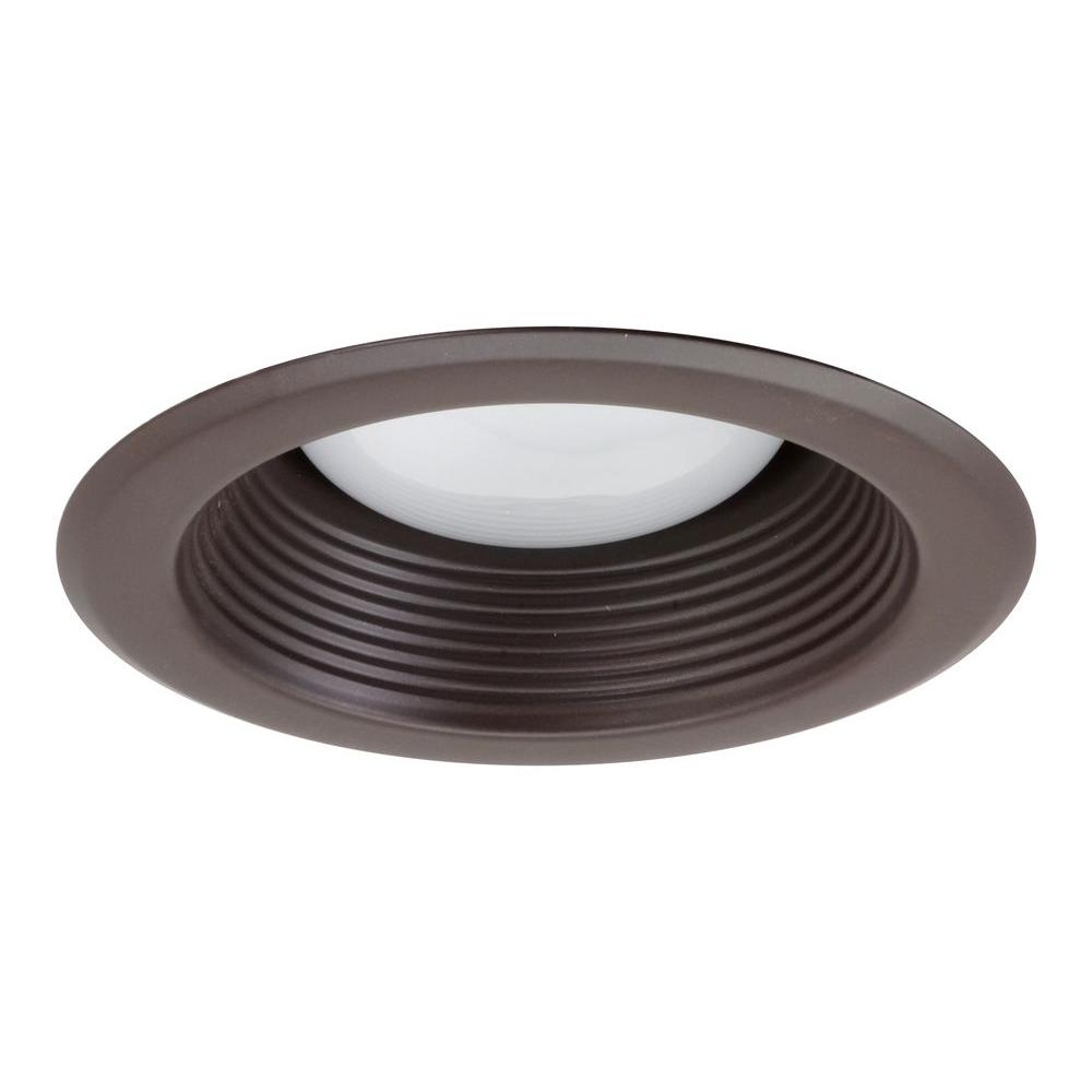 null NICOR 5 in. Oil Rubbed Bronze Recessed Baffle Trim