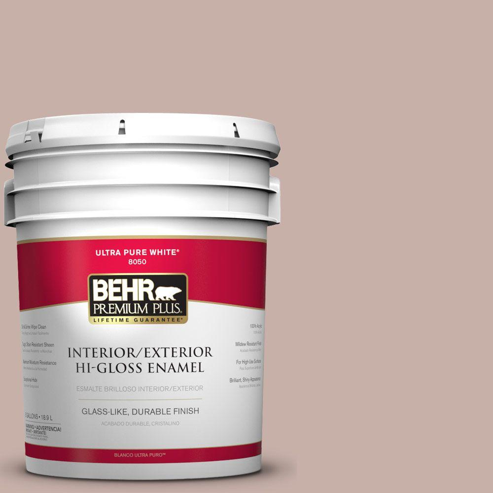 BEHR Premium Plus 5-gal. #N160-3 Vintage Charm Hi-Gloss Enamel Interior/Exterior Paint