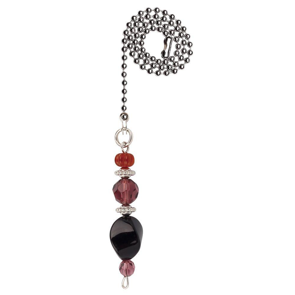 Westinghouse Burgundy And Orange Beads Pull Chain 7729400 The Home Depot