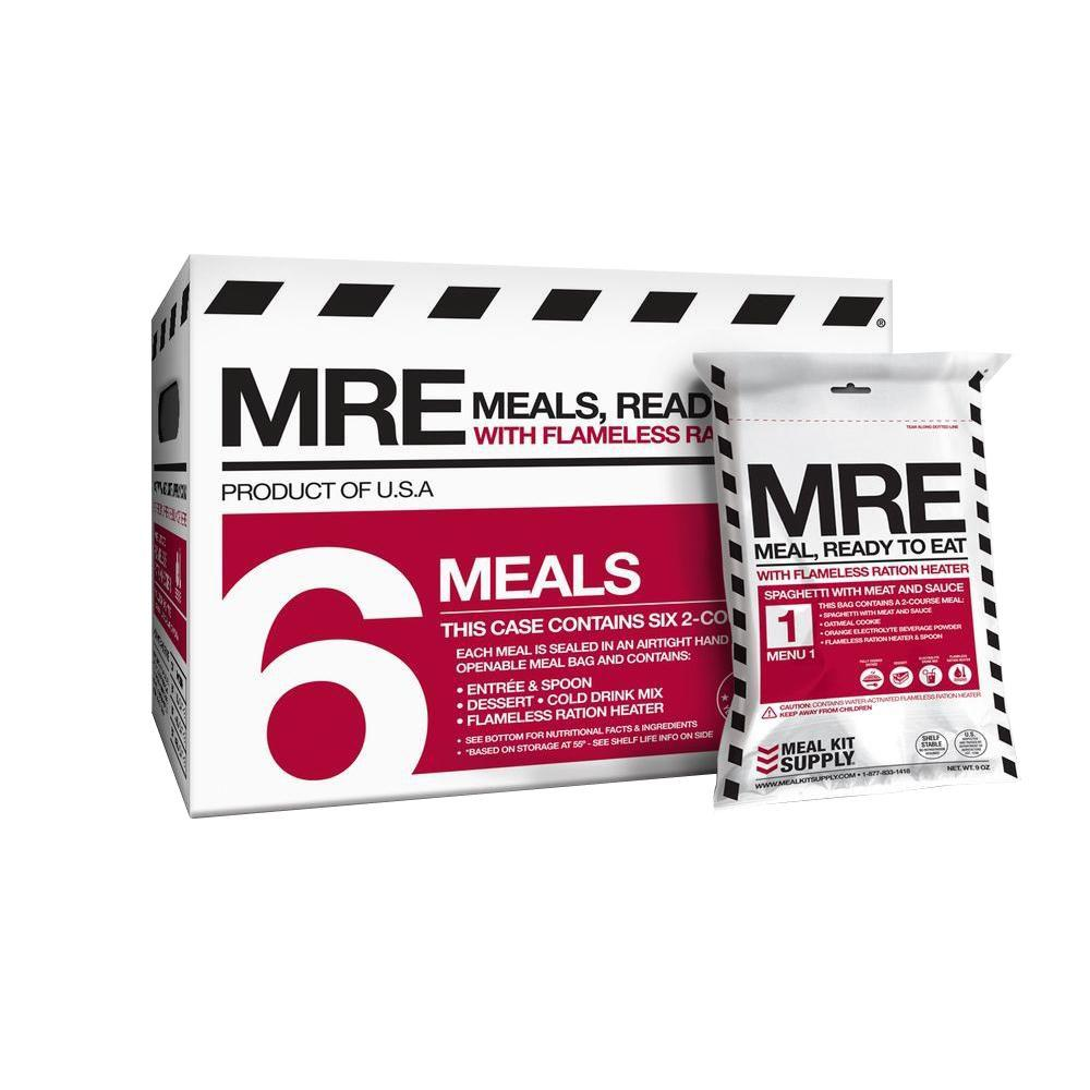 null Emergency Shelf Stable Meals Ready to Eat (MREs) with 2-Courses (6-Pack)