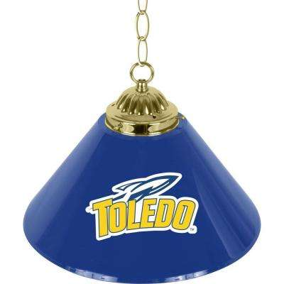 University of Toledo 14 in. Single Shade Stainless Steel Hanging Lamp