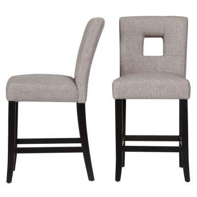 24 in. Sorrento Smoke Cushioned Bar Stool (Set of 2)