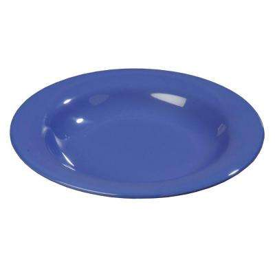 13 oz., 9.25 in. Diameter Wide Rim Melamine Pasta, Soup and Salad Bowl in Ocean Blue (Case of 24)
