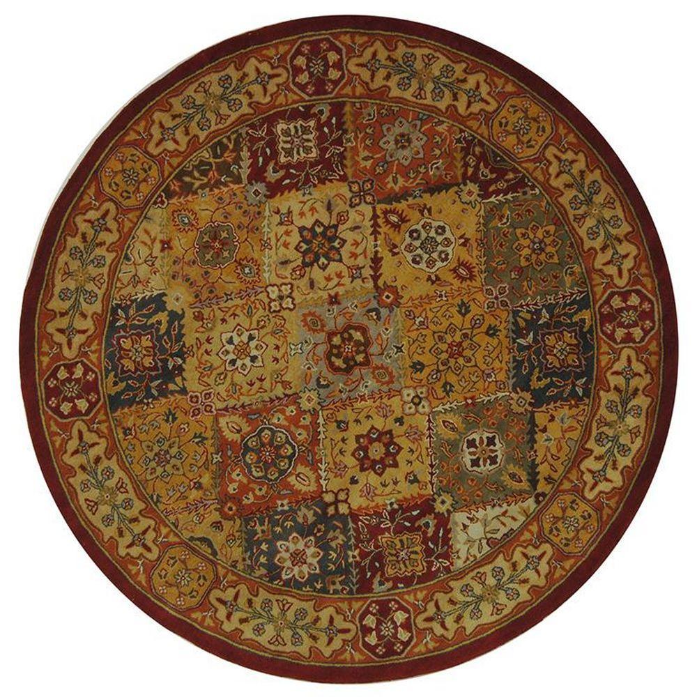 Safavieh Heritage Multi 8 Ft. X 8 Ft. Round Area Rug
