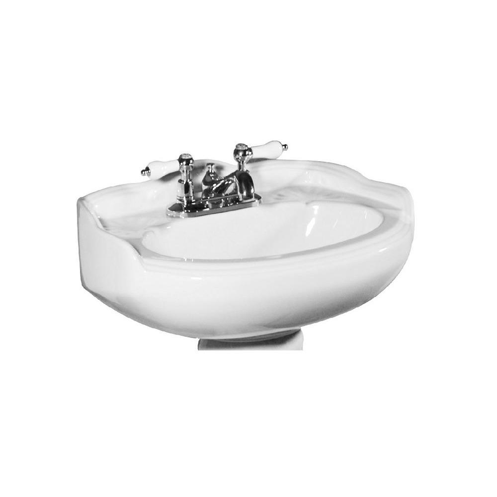 Arlington 6.5 in. Petite Pedestal Sink Basin in White