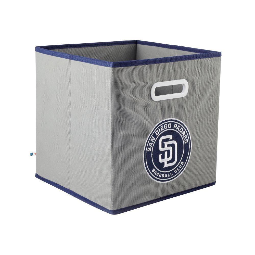 MyOwnersBox MLB STOREITS San Diego Padres 10-1/2 in. x 10-1/2 in. x 11 in. Grey Fabric Storage Drawer