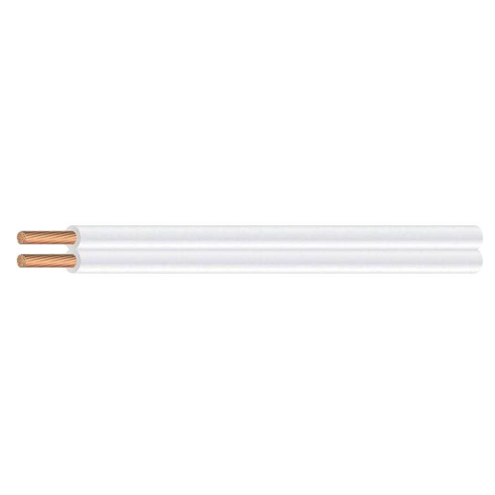 Southwire (By-the-Foot)18/2 White Stranded CU SPT-1 Lamp Wire