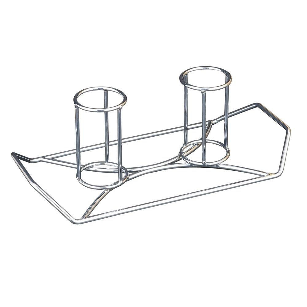 Chicken Holder Twins Beer Can Roaster Barbecue Outdoor Grill BBQ Cooking Rack
