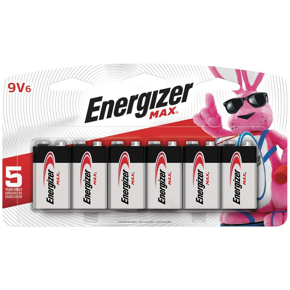 Energizer MAX Alkaline 9-Volt Battery (6-Pack)