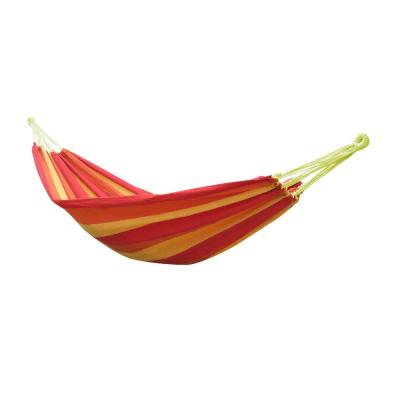 6.5 ft. Polyester Portable Double Hammock Bed in Red and Yellow with Carry Bag