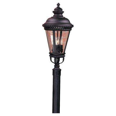 Castle 4-Light Black Outdoor Post Light