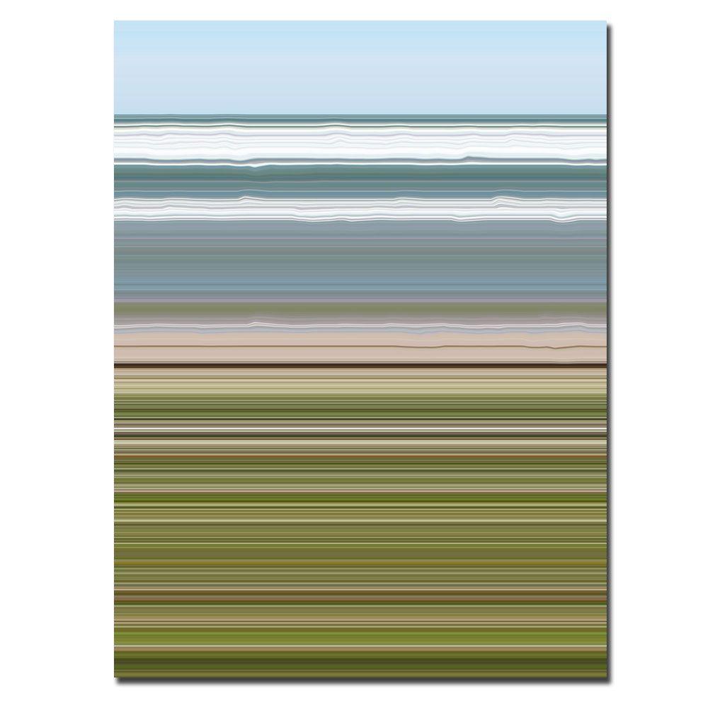 Trademark Fine Art 24 in. x 32 in. Sky Water Beach Grass Canvas Art