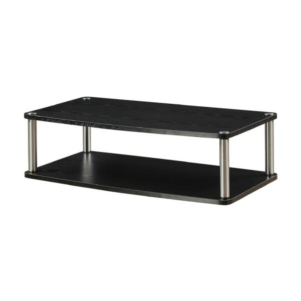 Designs2Go 31.5 in. Black Particle Board TV Swivel Stand Fits TVs Up to 32 in. with Cable Management
