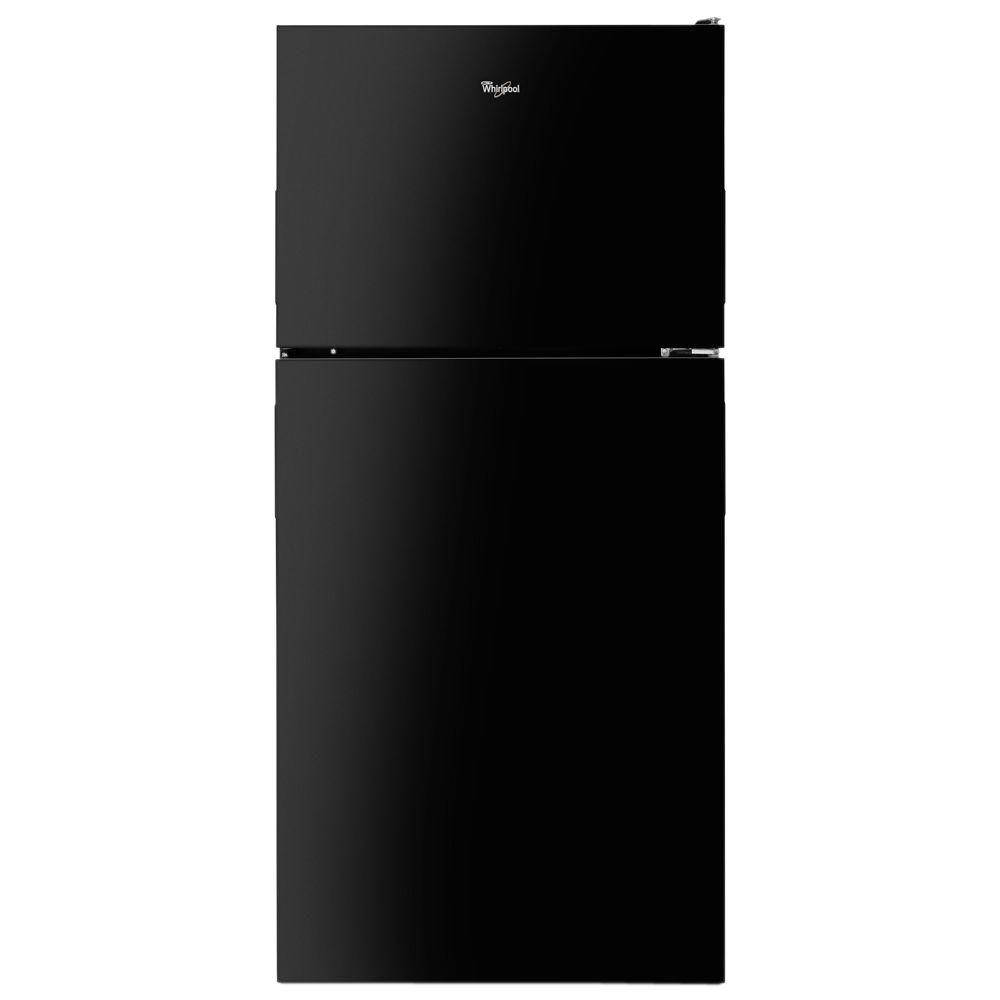 Whirlpool 18 cu. ft. Top Freezer Refrigerator in Black