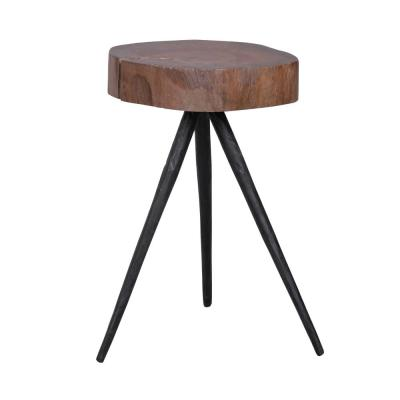 Farrin Gloss Black Round Side Table