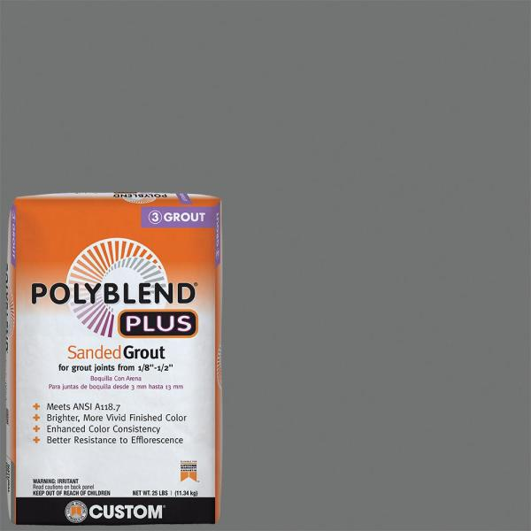 Polyblend Plus #644 Shadow 25 lb. Sanded Grout