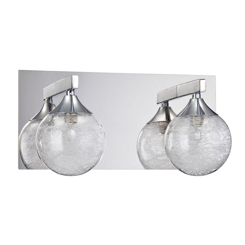 Filament Design Adrastea 2-Light Chrome Bath Vanity Light