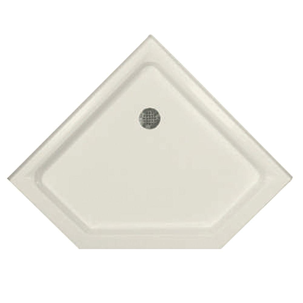 38 in. x 38 in. Triple Threshold Neo Shower Base in