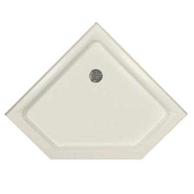 42 in. x 42 in. Triple Threshold Neo Shower Base in Biscuit