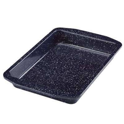 9 in. x 13 in. Deep Sea Blue Speckle Nonstick Speckled Bakeware Rectangular Cake Pan
