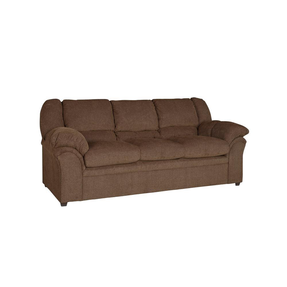 Big Ben Chocolate Chenille Upholstered Sofa