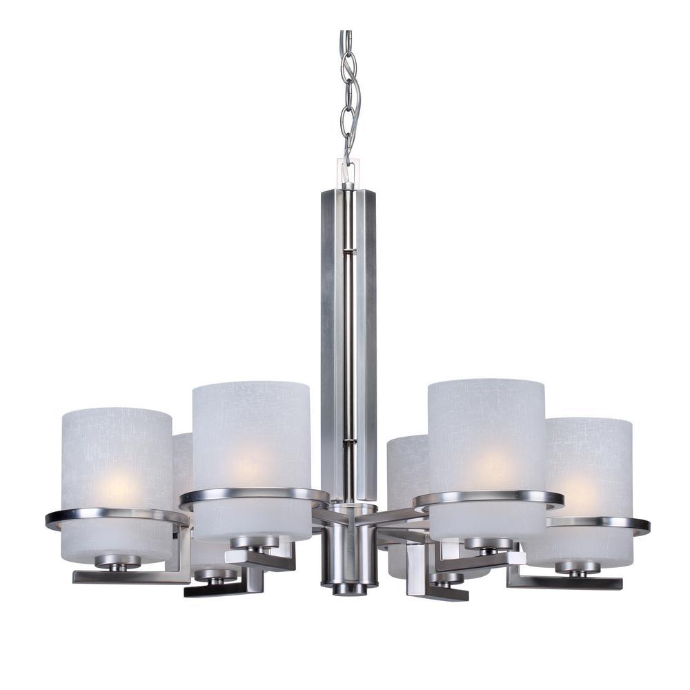6-Light Brushed Nickel Chandelier