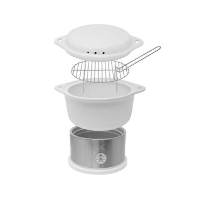 4.75 Qt. White Stainless Steel Food Steamer and Rice Cooker