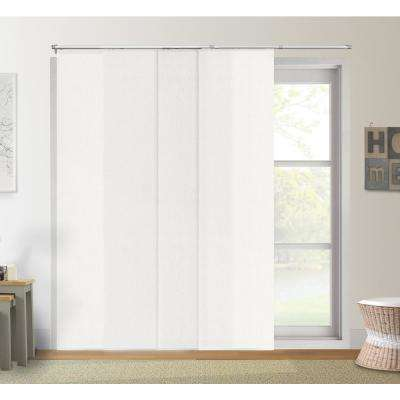 Adjustable Sliding Panel / Cut to Length, Curtain Drape Vertical Blind, Light Filtering, Privacy - Daily White
