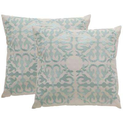 Moroccan Soleil Square Outdoor Throw Pillow (Pack of 2)