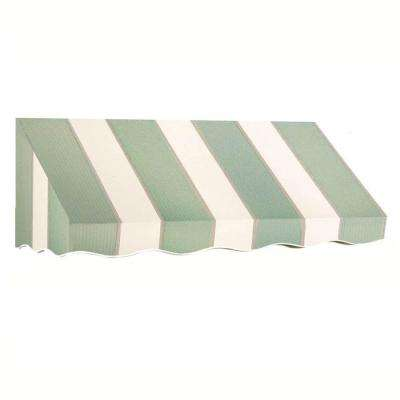 10 ft. San Francisco Window/Entry Awning (24 in. H x 36 in. D) in Sage/Linen/Cream Stripe