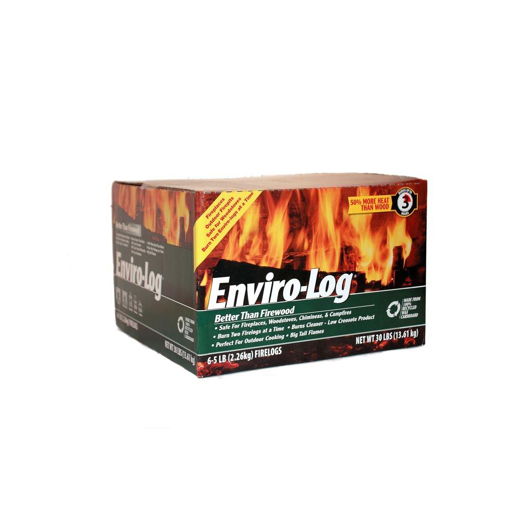 5 lb. Earth Friendly Fire Logs (6-Pack)