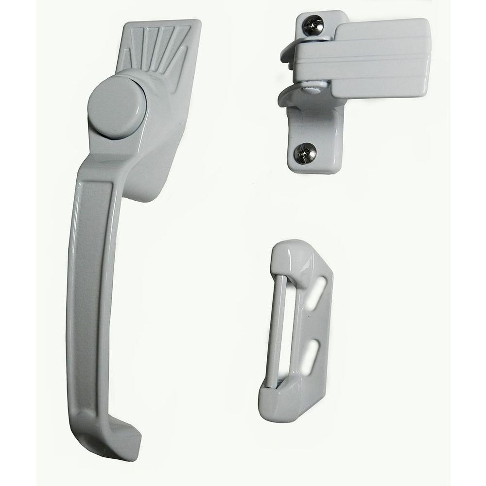 Barton Kramer Aluminum White Screen Door Handle Set