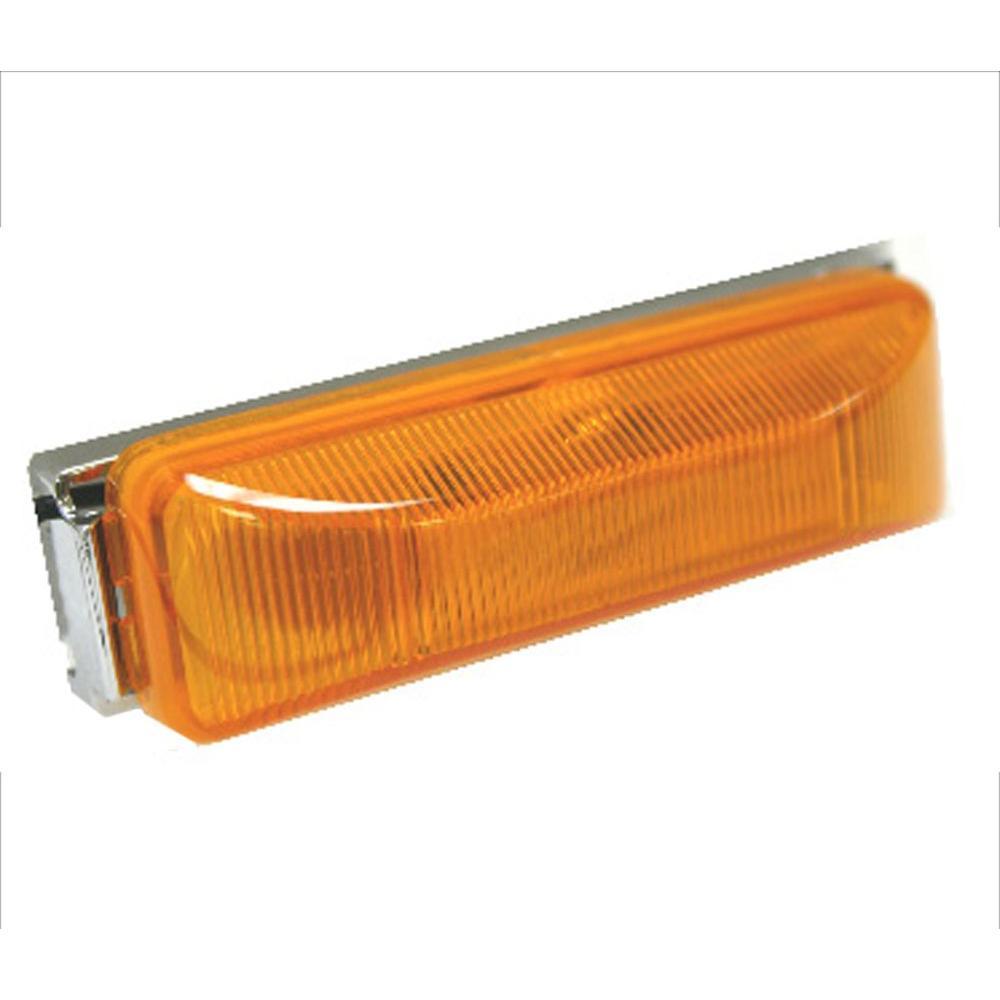 4 in. Sealed Rectangular LED Running Board Light, Amber