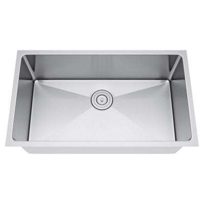 All-in-One Undermount Stainless Steel 30 in. Single Bowl Kitchen Sink