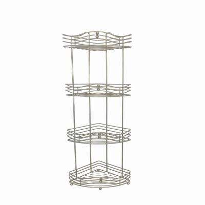Oliver 7.8 in. W Space Saver Tower Shelf in Satin Nickel