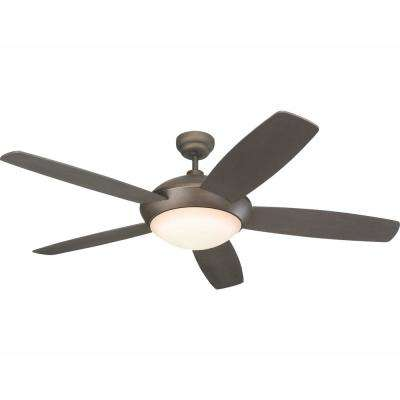 Sleek 52 in. LED Roman Bronze Ceiling Fan with Light Kit