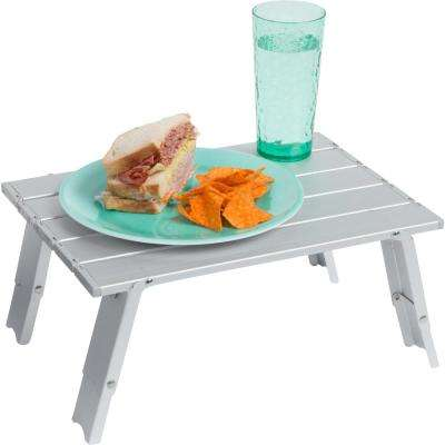 15.7 in. Compact Folding Beach and Camping Aluminum Table