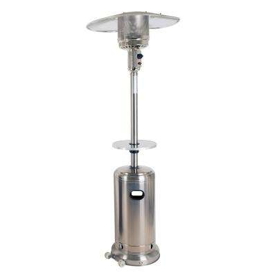 Deluxe 41,000 BTU Stainless Steel Gas Patio Heater with Stainless Steel Table