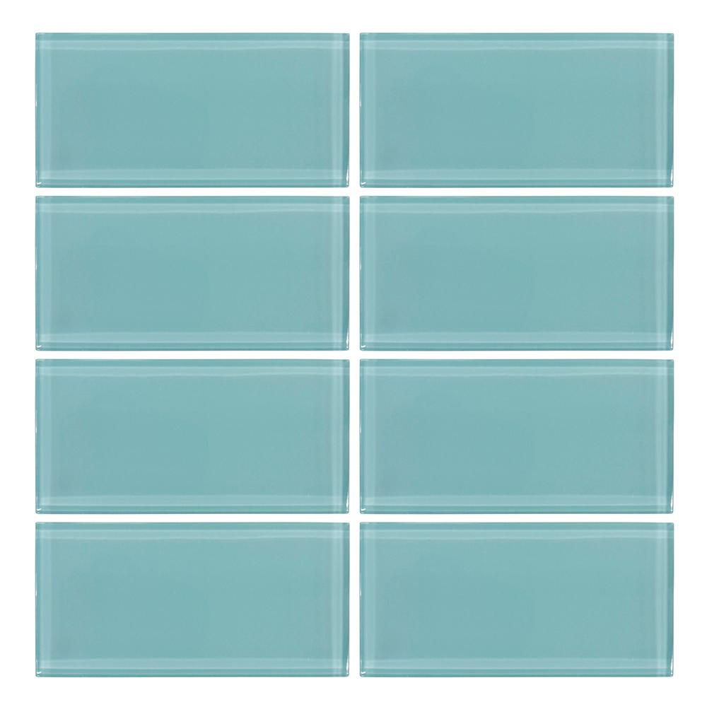 Jeffrey Court Tiffany May 3 In. X 6 In. Glass Wall Tile (8  Piece/pack) 99321   The Home Depot