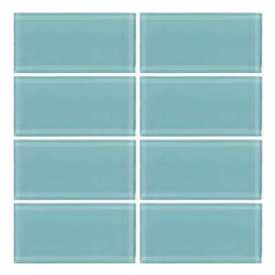 Tiffany May 3 in. x 6 in. Glass Wall Tile (8 piece/pack)