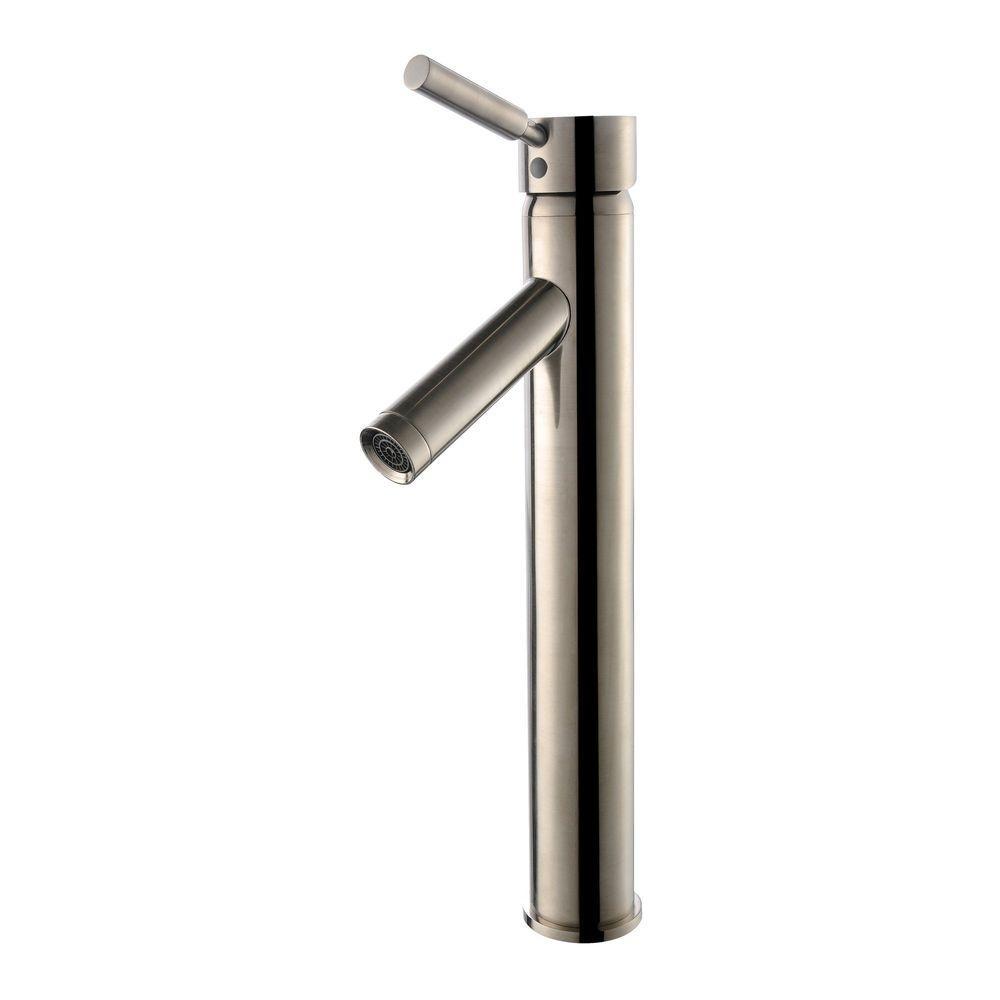 KRAUS Sheven Single Hole Single-Handle Vessel Bathroom Faucet in ...
