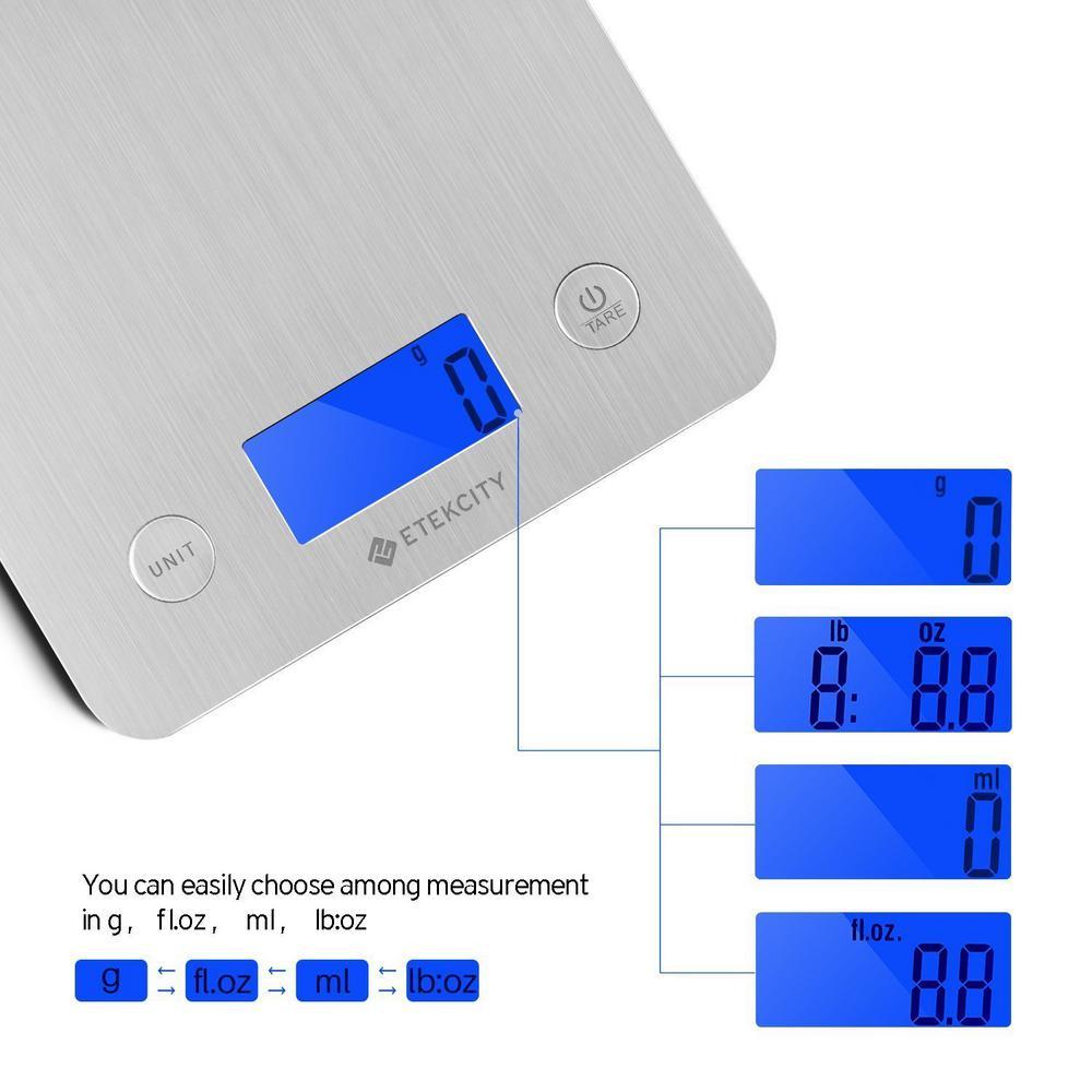 13547c01d071 Etekcity EK6211-S LCD Digital Kitchen Food Scale HOHLKD31E - The ...