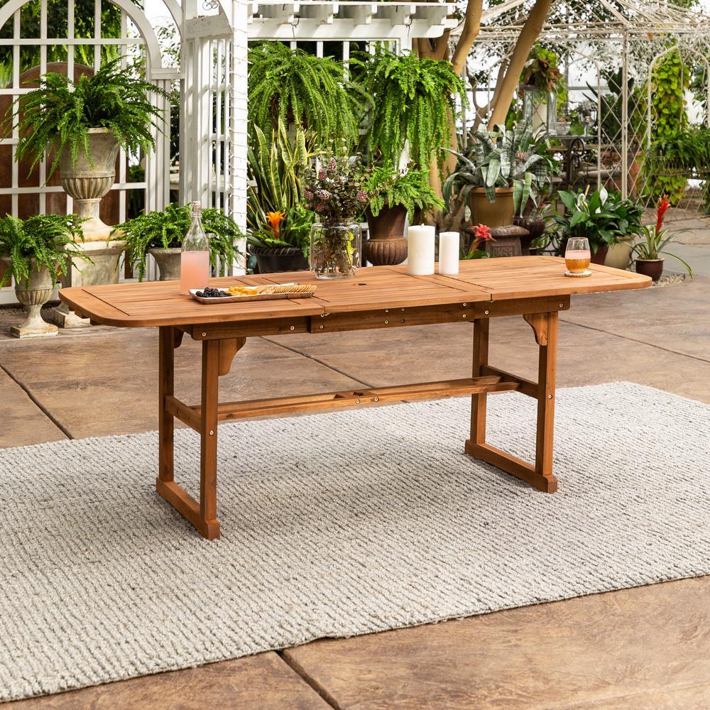 Acacia Wood Dining Table Durability: Walker Edison Furniture Company Boardwalk Brown Acacia