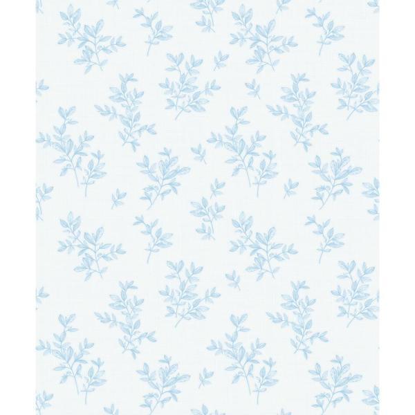Advantage 8 in. x 10 in. Pothos Light Blue Toss Wallpaper