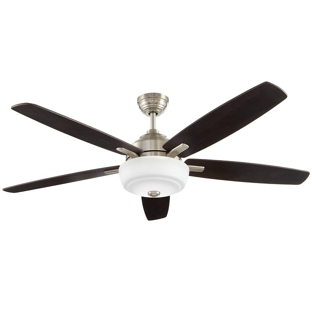 Home decorators collection sudler ridge 60 in led brushed Home depot kitchen ceiling fans