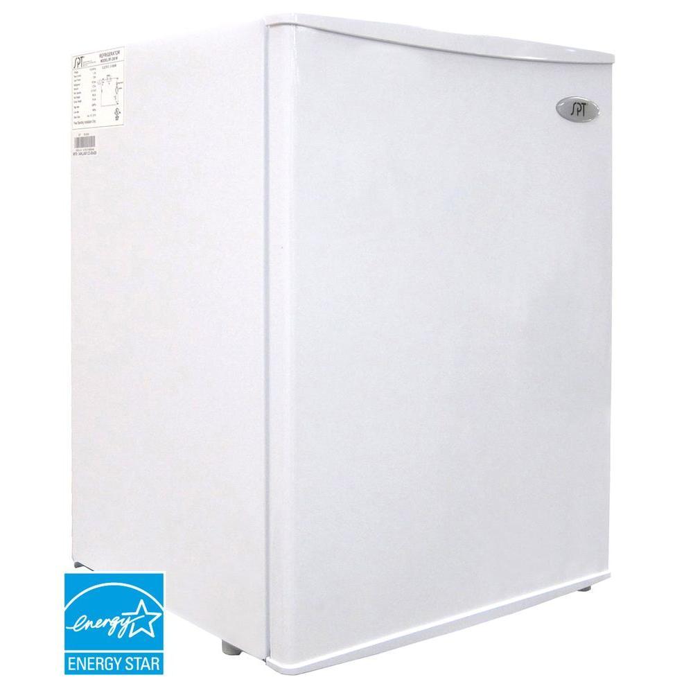 SPT 2.5 cu. ft. Mini Refrigerator in White