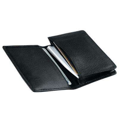 Black Executive Business Card Case Wallet in Genuine Leather