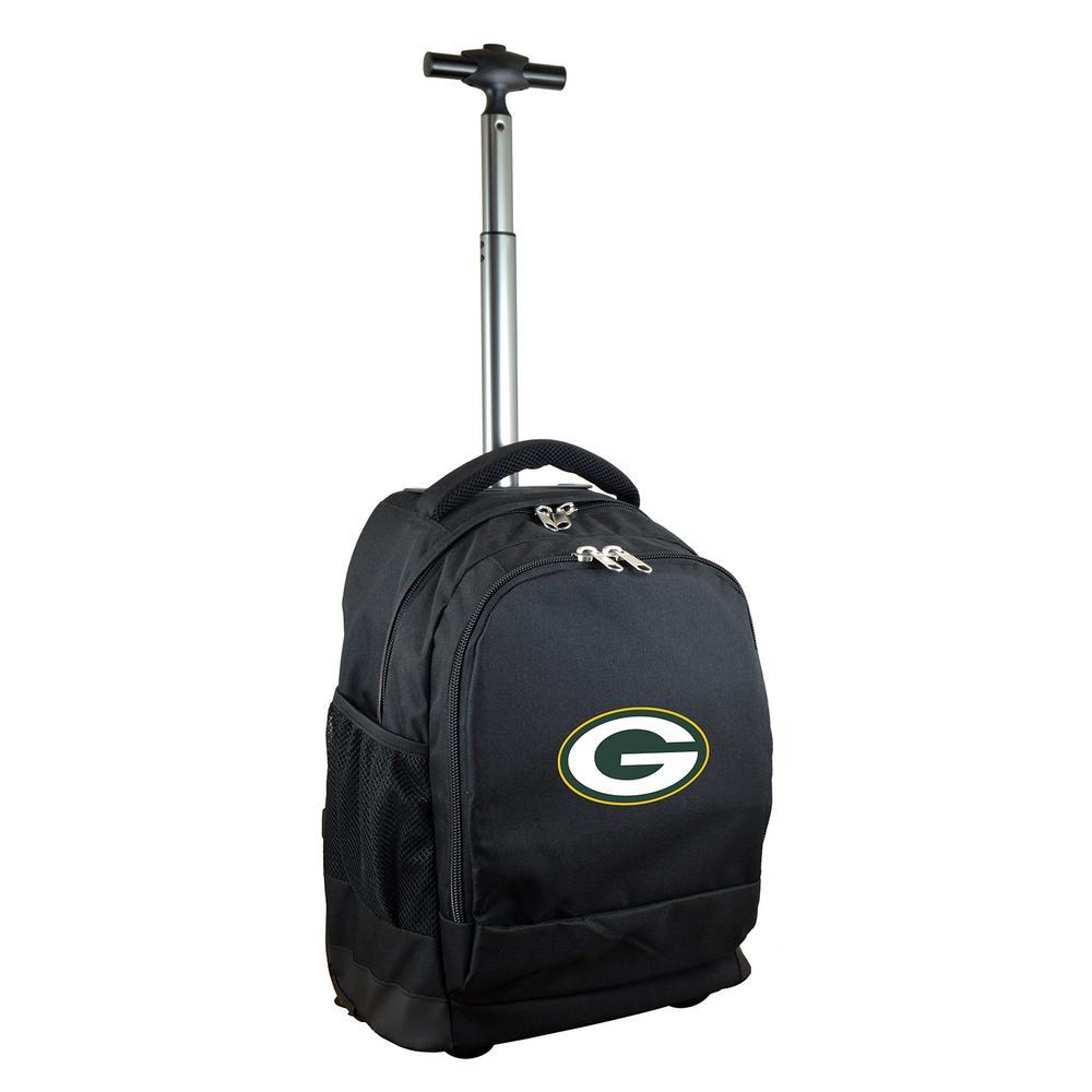 27d210c18522 Denco NFL Green Bay Packers Wheeled Premium Backpack in Black ...